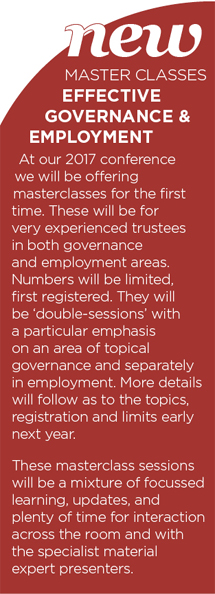 Master Classes:  Effective Governance and Employment